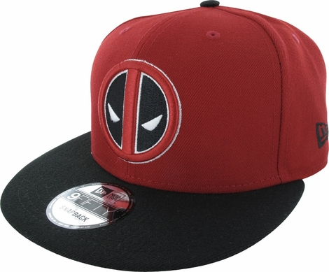 Deadpool Logo and Name 9FIFTY Snapback Hat
