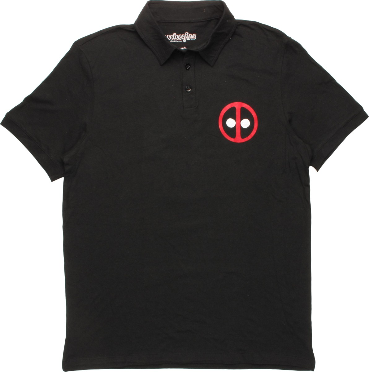 deadpool screen printed logo polo shirt