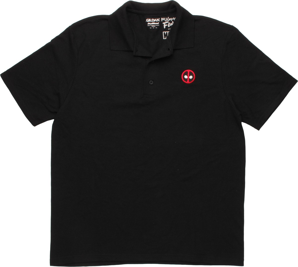 Deadpool small logo polo shirt for Work polo shirts with logo