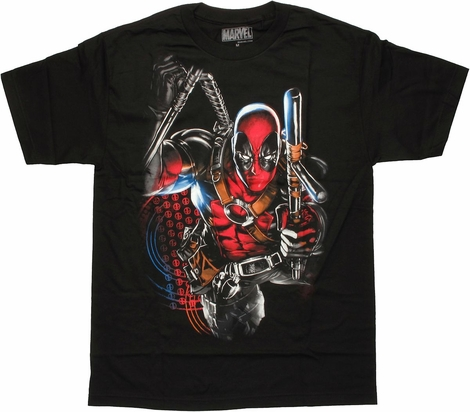 Deadpool Tonfa Strike T Shirt