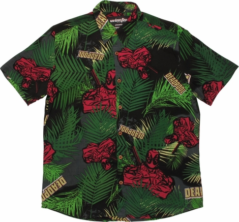 Deadpool Tropical Woven Shirt