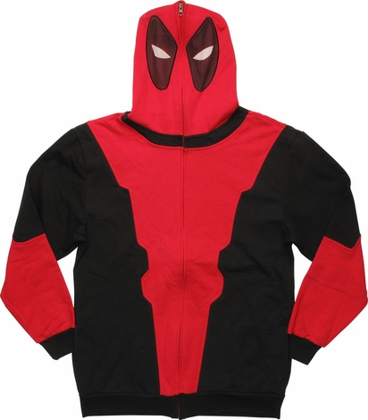 Deadpool Wade Wilson Suit Mask Zip Hoodie
