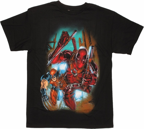 Deadpool Wolverine Rush T Shirt
