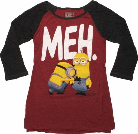 Despicable Me Meh 3/4 Raglan Juniors T-Shirt