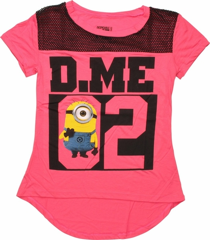 Despicable Me Minion Mesh Neckline Juniors T-Shirt
