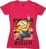 Despicable Me Minion Selfie V Neck Juniors T-Shirt