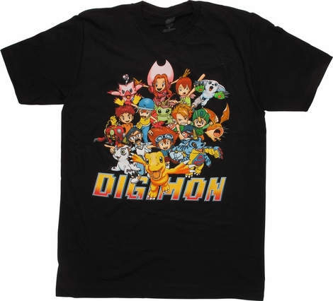 Digimon Group Shot T-Shirt