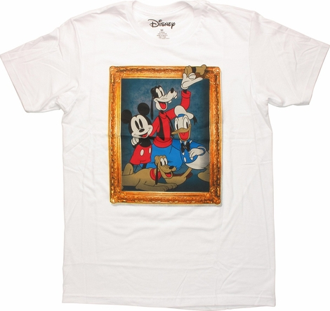 Disney Group Picture Frame T Shirt Sheer