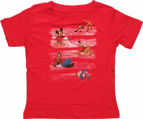 Disney Paint Strokes and Characters Infant T-Shirt