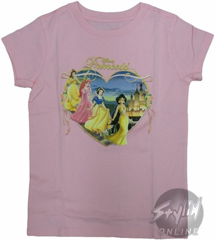 Disney Princess Heart Youth T-Shirt