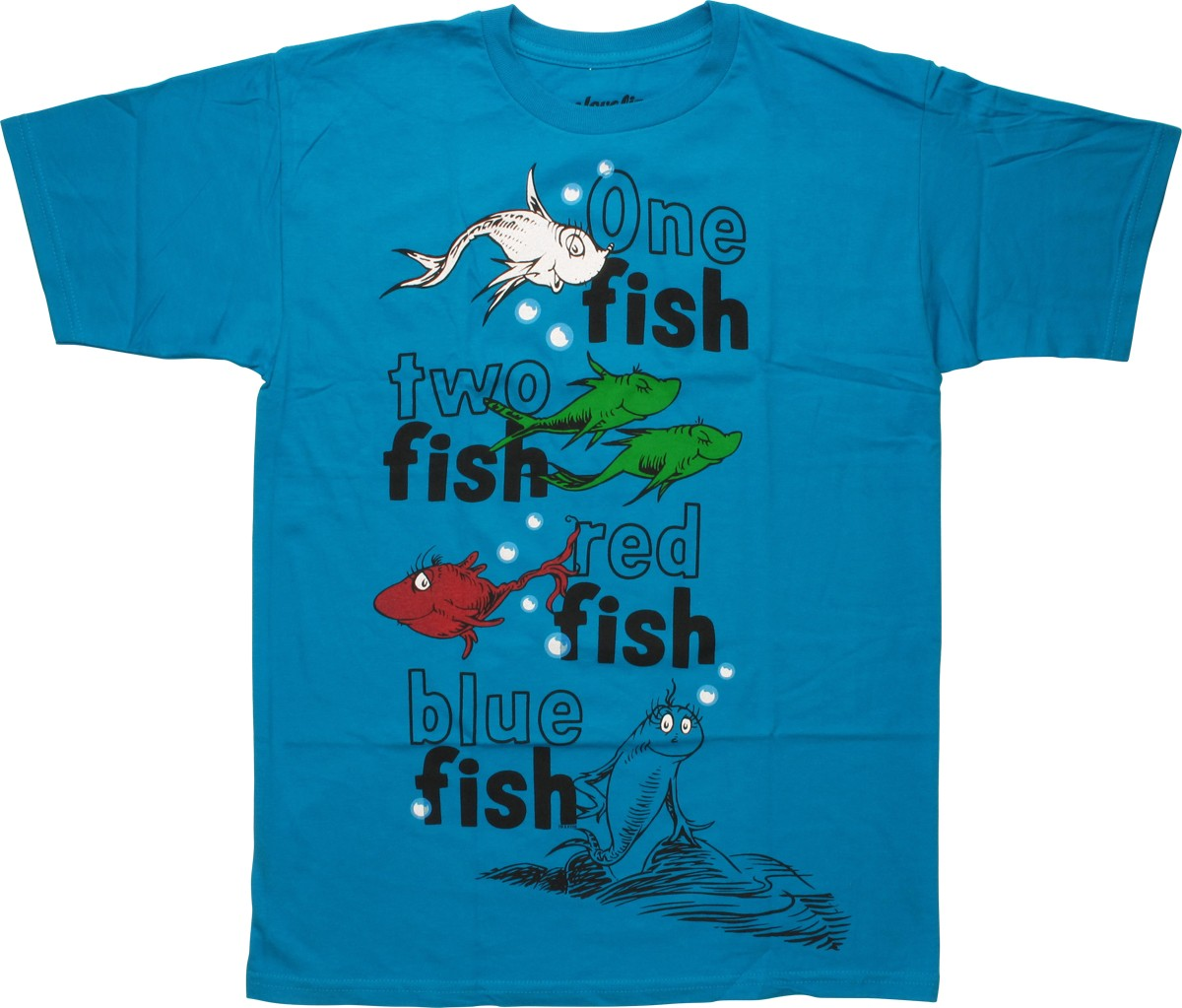 dr seuss 1 fish 2 fish red fish blue fish t shirt