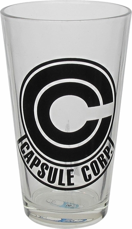 Dragon Ball Z Capsule Corp Logo Pint Glass