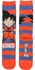 Dragon Ball Z Chibi Goku and Name Crew Socks