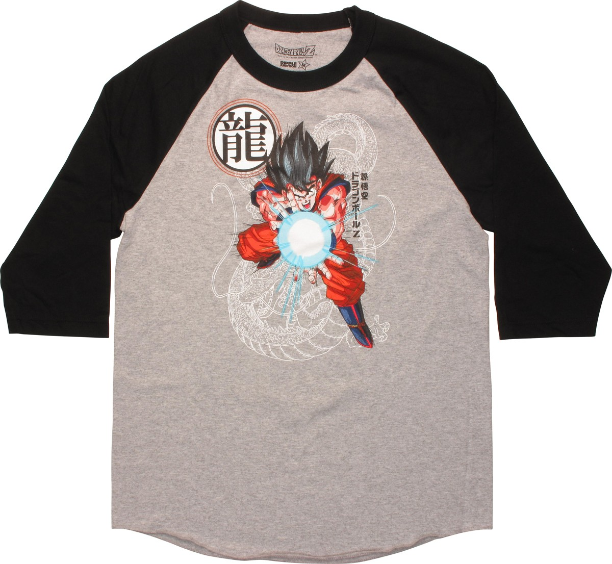dragon ball z goku kamehameha raglan t shirt. Black Bedroom Furniture Sets. Home Design Ideas