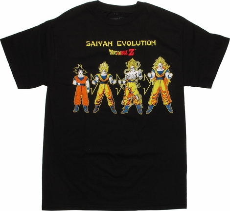 Dragon Ball Z Goku Saiyan Evolution T-Shirt