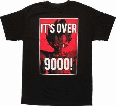 Dragon Ball Z Its Over 9000 Vegeta Framed T-Shirt