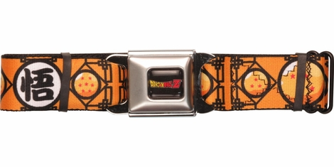 Dragon Ball Z Kanji Balls Seatbelt Belt