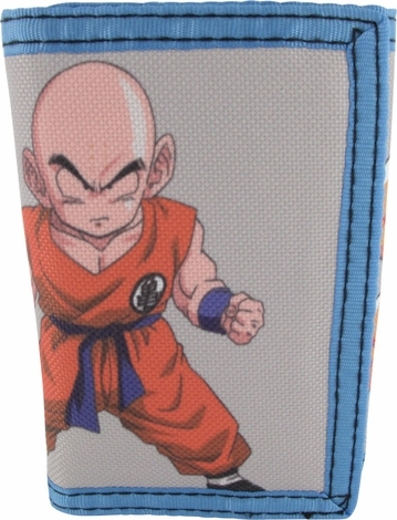 Dragon Ball Z Krillin Velcro Tri-Fold Wallet
