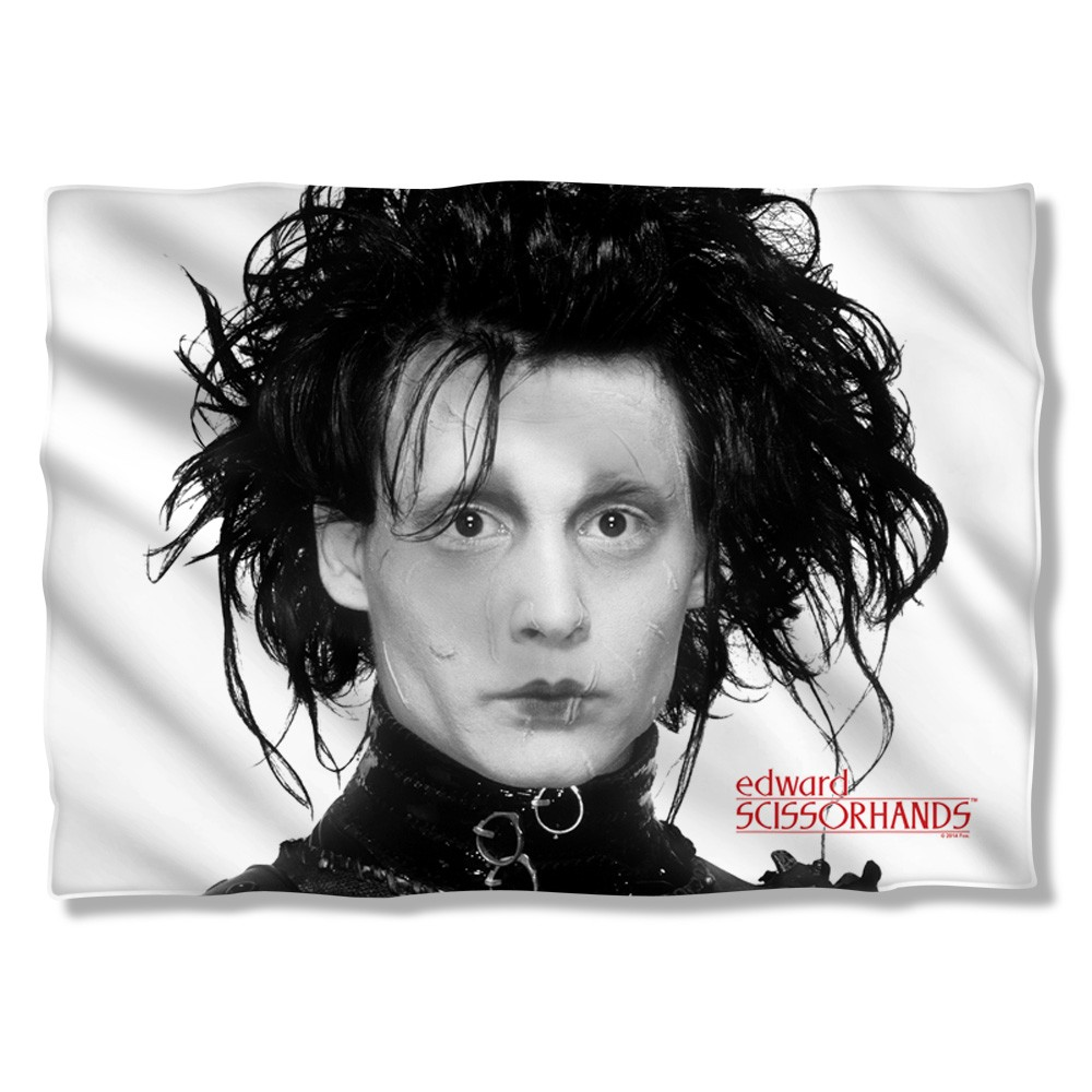 Edward Scissorhands Heads Up Pillow Case