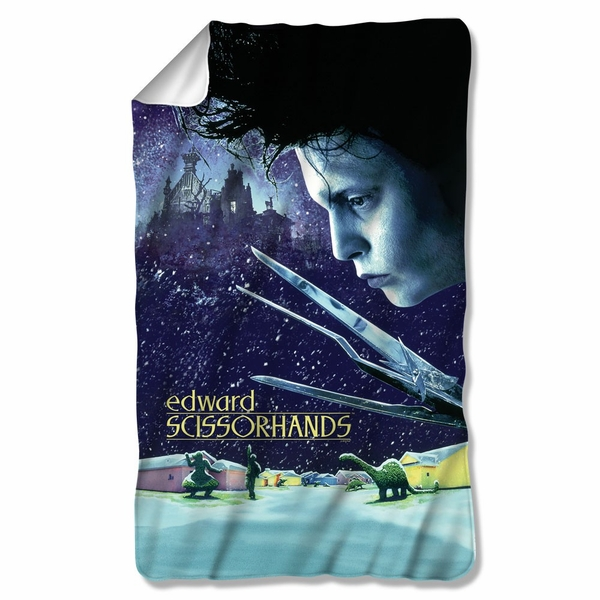 Edward Scissorhands Movie Poster Fleece Blanket