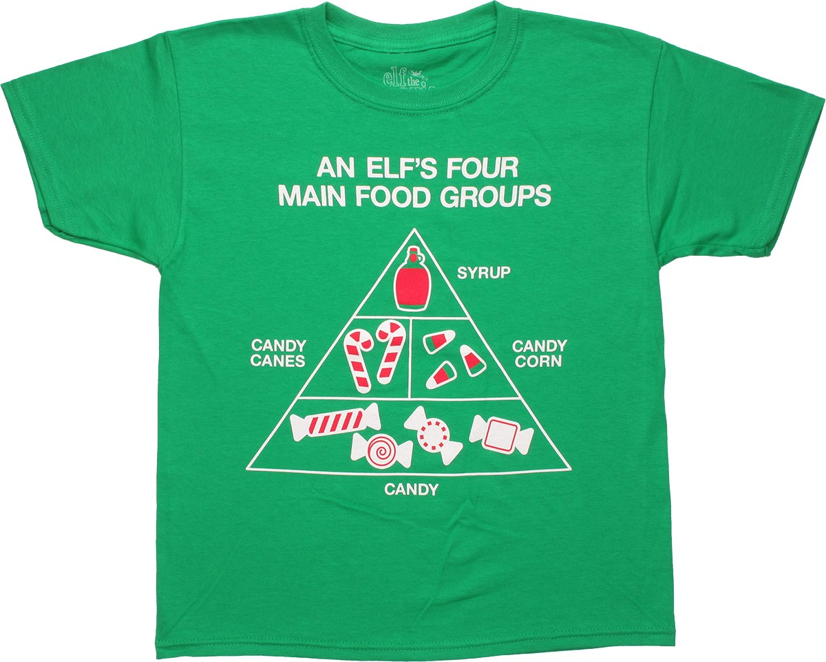 elf food groups youth t shirt