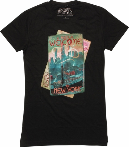 Fantastic Beasts Welcome to NY Juniors T-Shirt