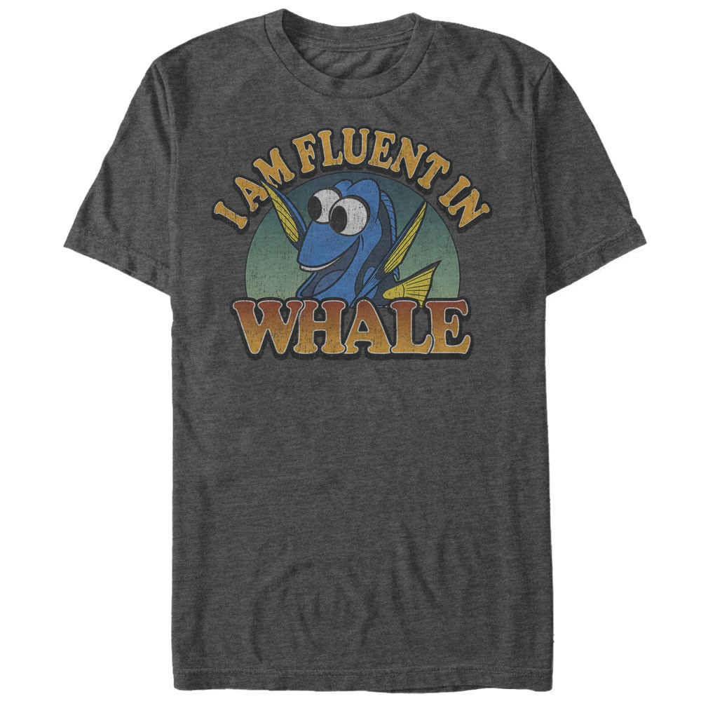 Finding dory fluent whale t shirt for Whale emblem on shirt