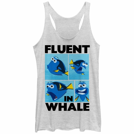 Finding Dory Fluent Whale Tank Top Juniors T-Shirt