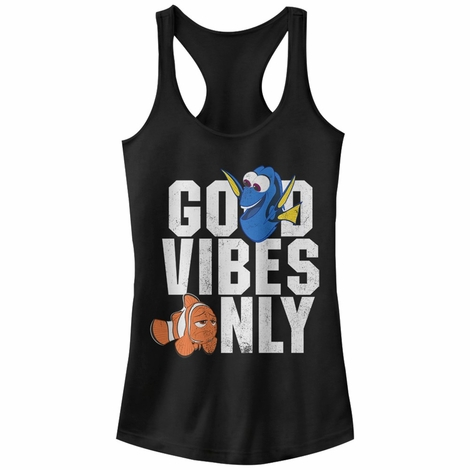 Finding Dory Good Vibes Tank Top Juniors T-Shirt