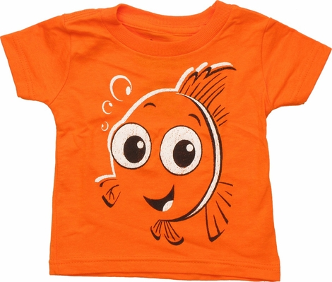 Finding Nemo Big Face Orange Infant T Shirt
