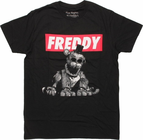 Five Nights at Freddy's Block Name T-Shirt