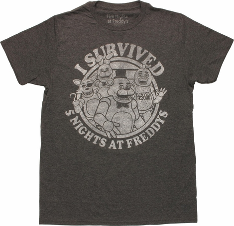 Five Nights at Freddy's Survived 5 Nights T-Shirt
