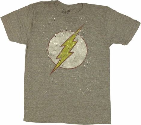 Flash Logo Splatter Paint T Shirt Sheer