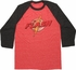 Flash Retro Logo Contrast Raglan T-Shirt