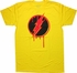 Flash Reverse Pop Art Logo T Shirt Sheer