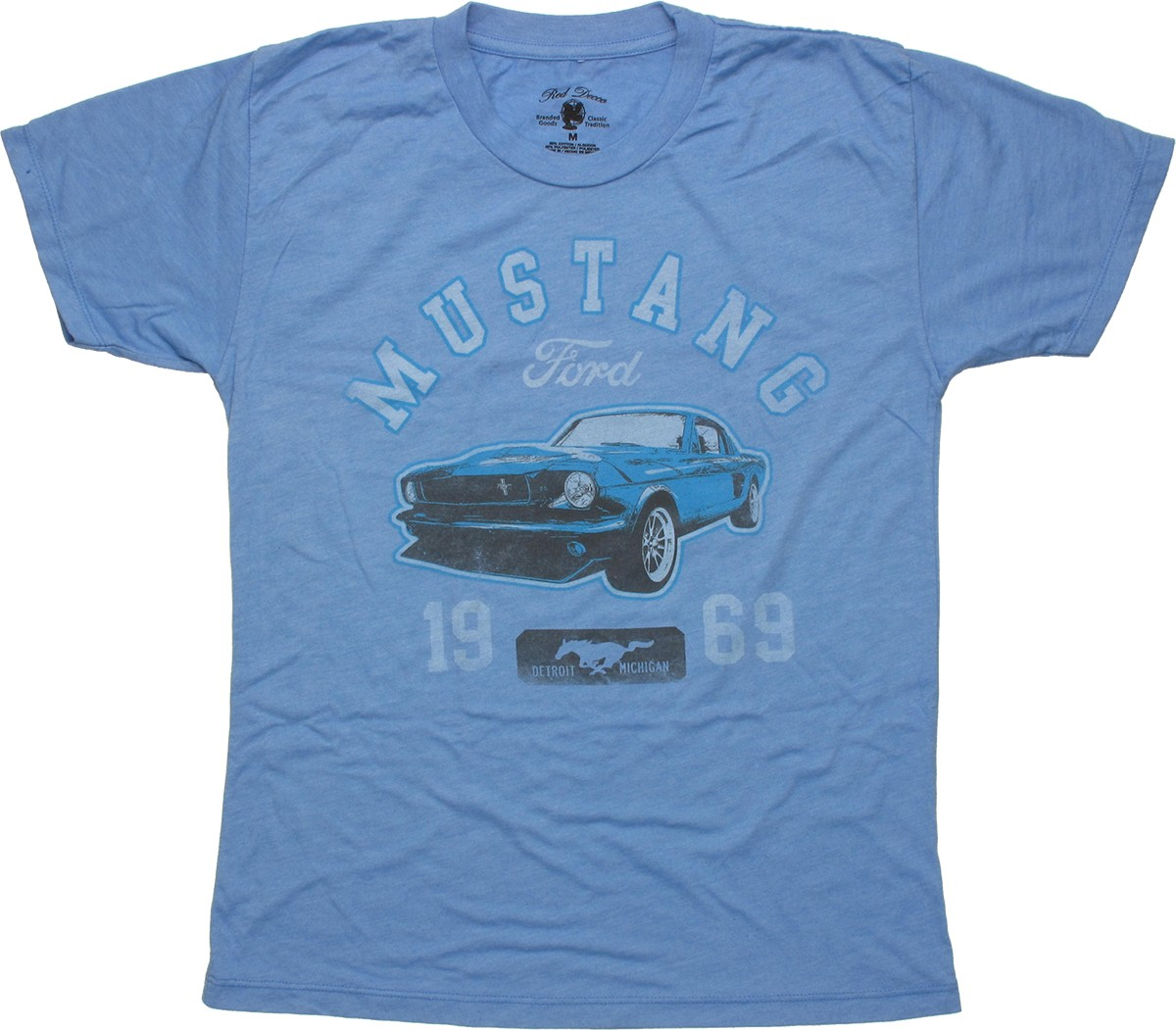 ford 1969 mustang heather blue youth t shirt. Black Bedroom Furniture Sets. Home Design Ideas