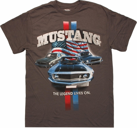 Ford mustang legend lives t shirt for Vintage mustang t shirt