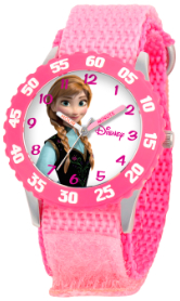 Frozen Anna Kids Stainless Steel Pink Bezel Watch