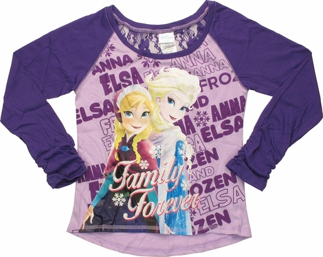 Frozen Family Forever Raglan Youth T-Shirt