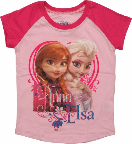 Frozen Glitter Names Ringer Toddler T-Shirt