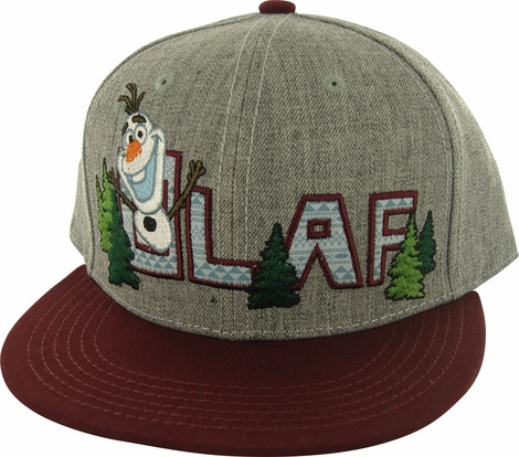 Frozen Olaf in Name Snapback Hat