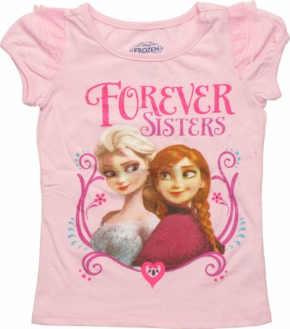 Frozen Sisters Flutter Sleeve Toddler T-Shirt