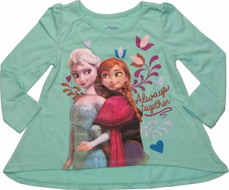 Frozen Together Flared Long Sleeve Toddler T-Shirt