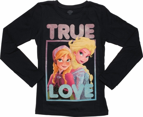 Frozen True Love Long Sleeve Youth T-Shirt
