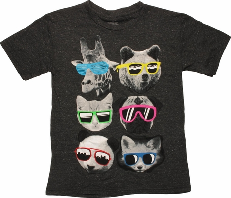 Funny Animals In Glasses Youth T-Shirt