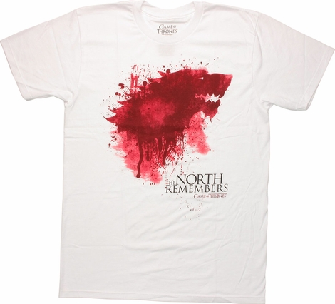 Game of Thrones Bloody Direwolf Sigil T Shirt Sheer