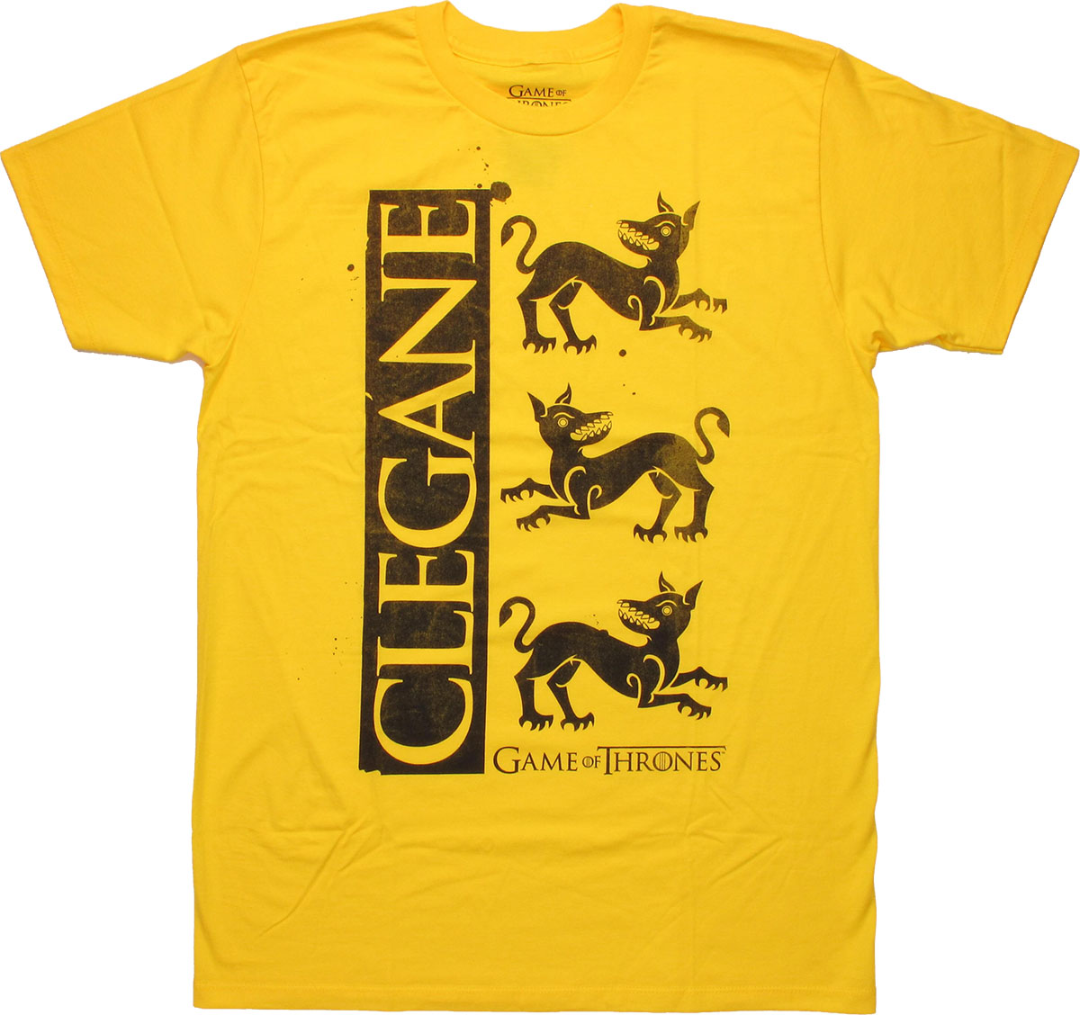 Game of thrones clegane sigil t shirt sheer for Throne of games shirt