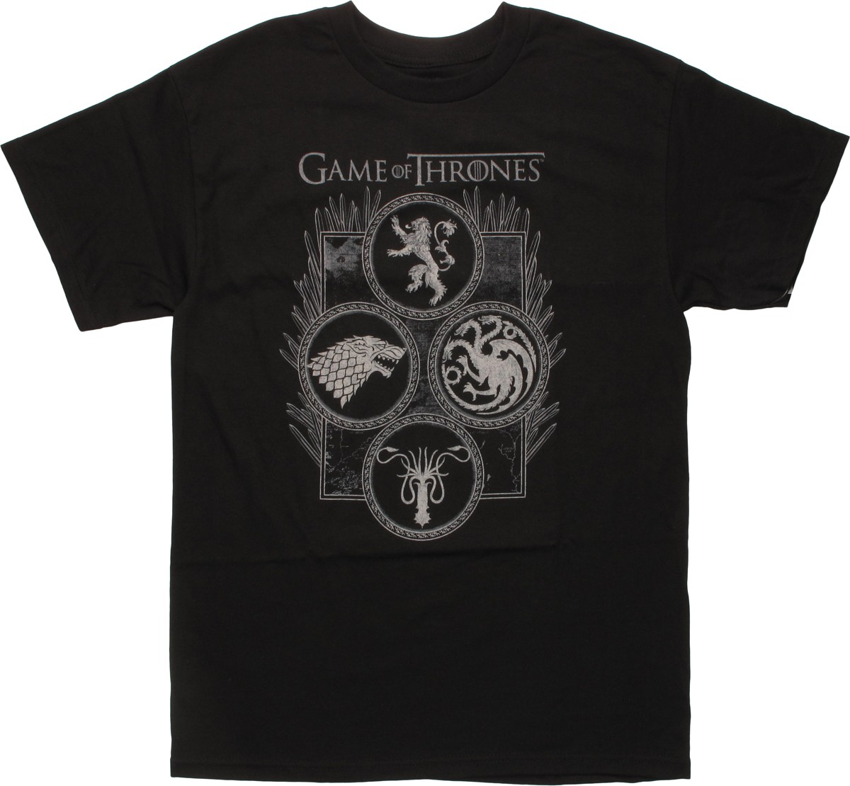 game of thrones four houses in circles t shirt. Black Bedroom Furniture Sets. Home Design Ideas
