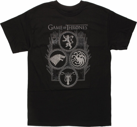 Buy Game Of Thrones T Shirts Sigils Of Game Of Thrones
