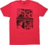 Game of Thrones House Crests Squares Red T-Shirt